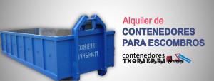 Alquiler contenedores escombros precio